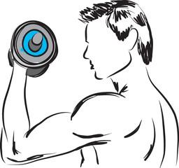 work-out man illustration 2