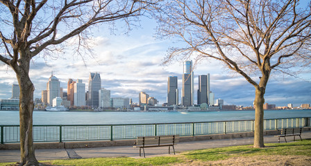 Detroit skyline from Windsor, Canada