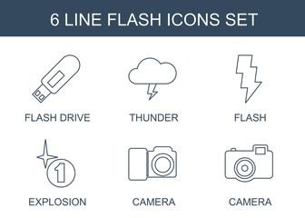 6 flash icons