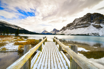 Wall Mural - Bow Lake , Rocky Mountains, Banff, Alberta, Canada
