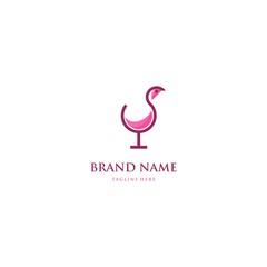 champagne vector logo