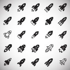 Rocket icons set on white background for graphic and web design, Modern simple vector sign. Internet concept. Trendy symbol for website design web button or mobile app