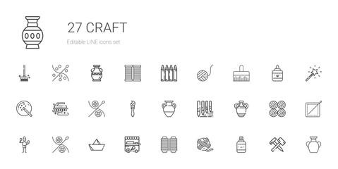craft icons set