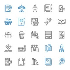 paper icons set