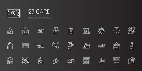 card icons set