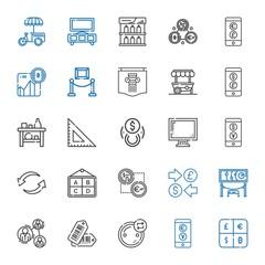 trade icons set
