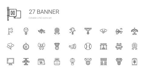banner icons set