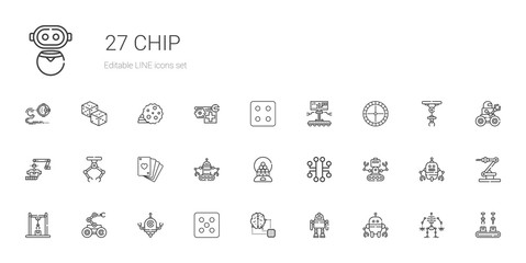 chip icons set