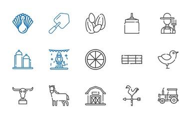 farm icons set