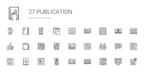 publication icons set