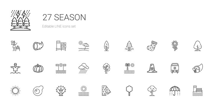 season icons set