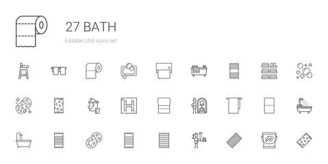 bath icons set