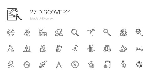 discovery icons set