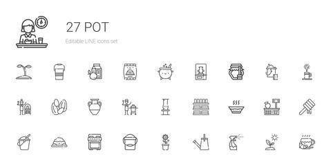 pot icons set