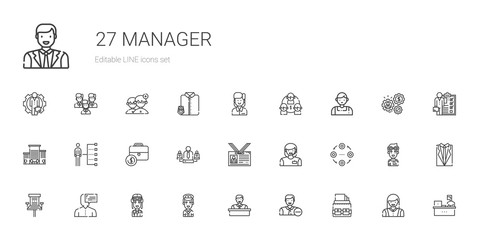 manager icons set