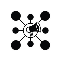 Black solid icon for Viral