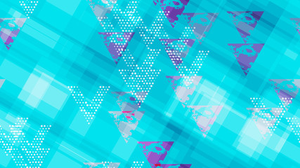 Grunge Geometric Seamless Pattern. Sporty Fashion Pattern. Element of the Modern Background, Packaging, Textiles, Wallpaper. Triangles, Points, Lines of Different Shades.