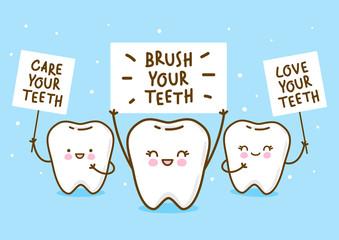 Cute little teeth for Your kawaii design