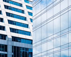 Architecture details Glass Facade Modern building Business background