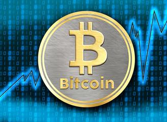Bitcoin wzrostu - fototapety na wymiar