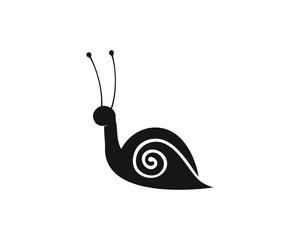 snail logo template vector icon