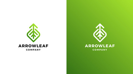 Leaf Logotype template, positive and negative variant, corporate identity for brands, nature logo