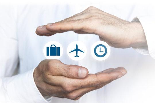 mani, sovrapposte,  volo, viaggio, vacanze, assicurazione