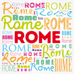 Rome wallpaper word cloud, travel concept background
