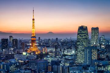 Tokyo Tower und Berg Fuji, Tokio, Japan