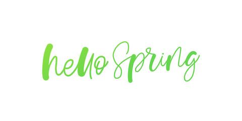 Spring lettering web banner template. Vector illustration EPS10