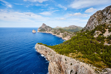 Wall Mural - General view of Cap de Formentor, Mallorca.