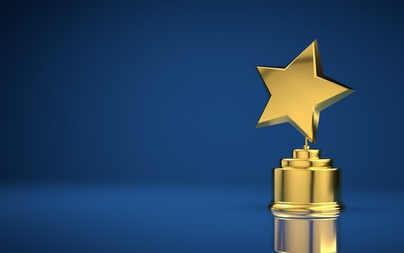 Star award blue background