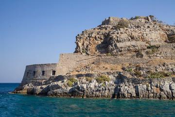 Spinalonga fortress on the island of Crete, Greece.