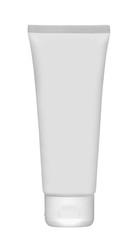 White tube for cream isolated on white