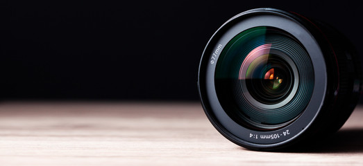 camera lens on table Wall mural
