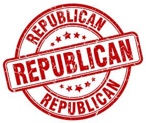 republican red grunge round vintage rubber stamp