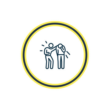 Vector illustration of empathy icon line. Beautiful emotions element also can be used as friendship icon element.