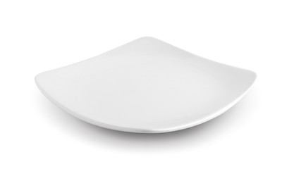 white plate isolated on white background Wall mural