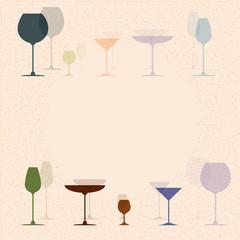 cocktail glasses for restaurant or bar menu