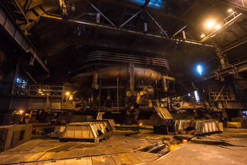 Interior of a blast furnace of steel mill