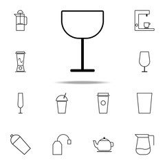 wineglass icon. kitchen icons universal set for web and mobile