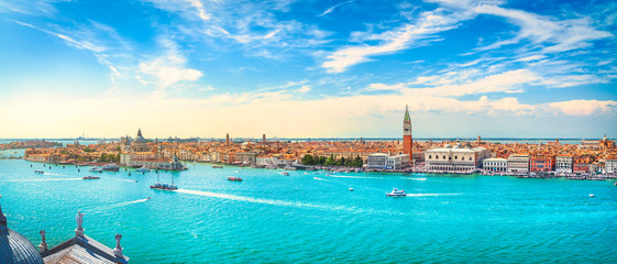 Photo sur Aluminium Venise Venice Grand Canal aerial view. Italy