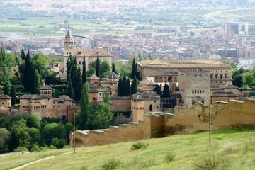 Alhambra in Granada. Historical city of Andalusia. Spain