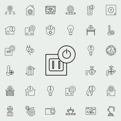 electrical outlet icon. Automation icons universal set for web and mobile