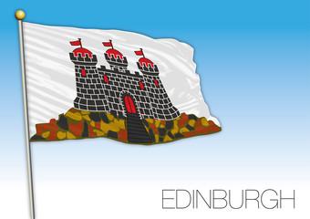 Edinburgh county flag, United Kingdom, Scotland, vector illustration