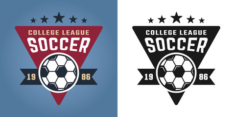 Soccer college team two styles vector emblems