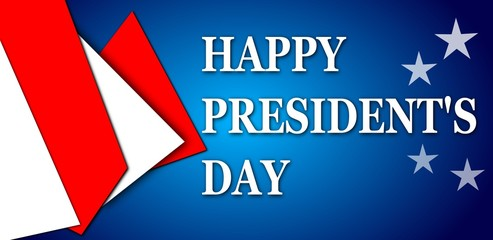 Happy President's day design blue background
