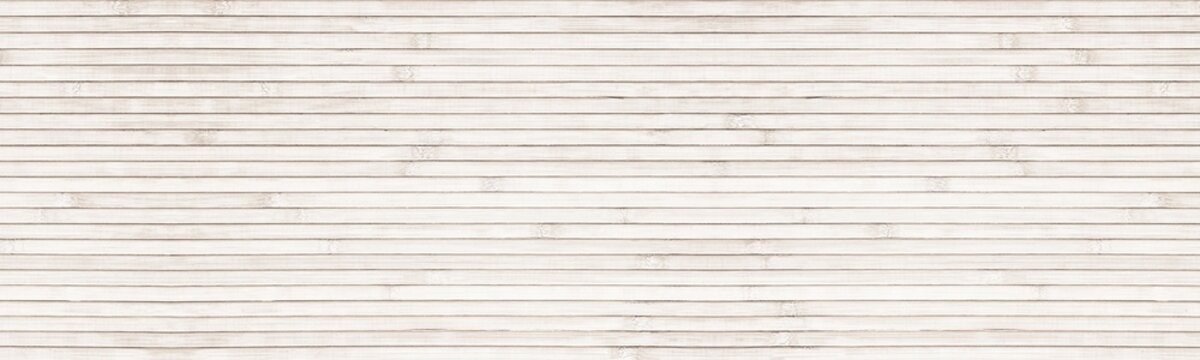 Wide natural bamboo background - light wood panoramic texture