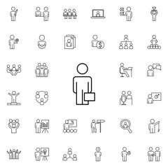 business man with a diplomat icon. Business Organisation icons universal set for web and mobile