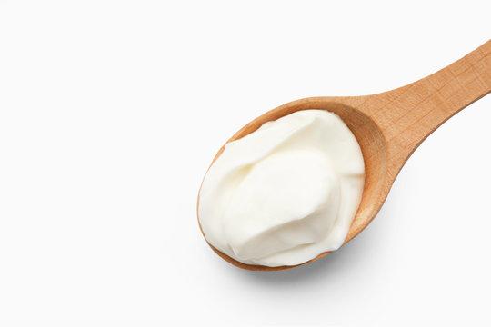 Homemade cream cheese concept, copy space